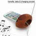 iPhone 4 4s Acoustic Amplifier (Brown Rugby) custom degsined carrying case by PDair