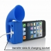 iPhone 5 5s Acoustic Amplifier (Blue Horn) custom degsined carrying case by PDair