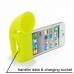 iPhone 4 4s Acoustic Amplifier (Yellow Horn) custom degsined carrying case by PDair