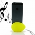 iPhone 5 5s Acoustic Amplifier (Yellow Ellipse) custom degsined carrying case by PDair