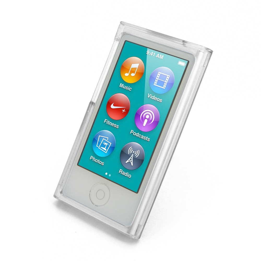 ipod nano 8th nano 7th crystal hard cover transparent. Black Bedroom Furniture Sets. Home Design Ideas