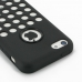 iPhone 5c Soft Case (Black Perforated Pattern) protective carrying case by PDair