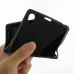 Sony Xperia Z1 Soft Case (Black S Shape pattern) genuine leather case by PDair
