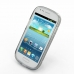 Samsung Galaxy S3 Mini Soft Case (Grey S Shape pattern) custom degsined carrying case by PDair