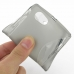 Sony Xperia J Soft Case (Grey S Shape pattern) genuine leather case by PDair