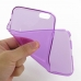 iPhone 6 6s Plus Transparent Soft Gel Case (Purple) genuine leather case by PDair