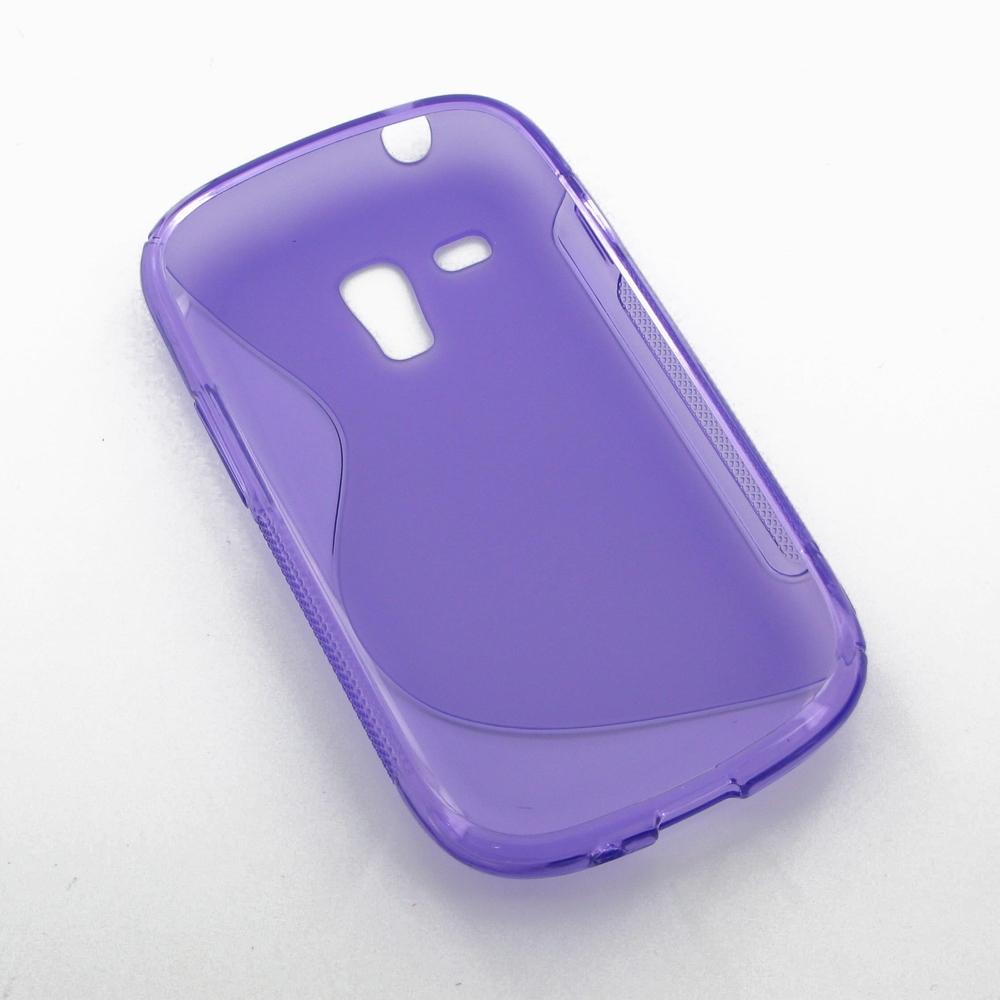 samsung galaxy s3 mini soft case purple s shape pattern. Black Bedroom Furniture Sets. Home Design Ideas