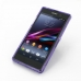 Sony Xperia Z1 Soft Case (Purple S Shape pattern) genuine leather case by PDair