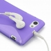Sony Xperia J Soft Case (Purple S Shape pattern) protective carrying case by PDair