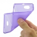 Sony Xperia J Soft Case (Purple S Shape pattern) top quality leather case by PDair