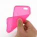 iPhone 5c Soft Case (Pink S Shape pattern) genuine leather case by PDair
