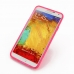 Samsung Galaxy Note 3 Soft Case (Pink S Shape pattern) top quality leather case by PDair