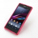 Sony Xperia Z1 Soft Case (Pink S Shape pattern) genuine leather case by PDair