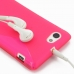 Sony Xperia J Soft Case (Pink S Shape pattern) protective carrying case by PDair