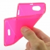 Sony Xperia J Soft Case (Pink S Shape pattern) genuine leather case by PDair