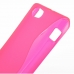 Sony Xperia J Soft Case (Pink S Shape pattern) top quality leather case by PDair