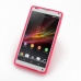 Sony Xperia ZL Soft Case (Pink S Shape pattern) top quality leather case by PDair