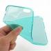 iPhone 6 6s Plus Transparent Soft Gel Case (Aqua) genuine leather case by PDair