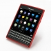 BlackBerry Passport Soft Case (Red S Shape pattern) genuine leather case by PDair
