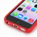 iPhone 5c Soft Case (Red S Shape pattern) handmade leather case by PDair