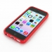 iPhone 5c Soft Case (Red S Shape pattern) top quality leather case by PDair