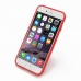iPhone 6 6s Transparent Soft Gel Case (Red) genuine leather case by PDair
