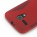 Moto G Soft Case (Red S Shape pattern) protective carrying case by PDair