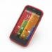 Moto G Soft Case (Red S Shape pattern) genuine leather case by PDair