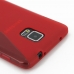Samsung Galaxy Note 4 Soft Case (Red S Shape pattern) protective carrying case by PDair