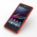 Sony Xperia Z1 Soft Case (Red S Shape pattern) top quality leather case by PDair