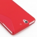 Sony Xperia Z Soft Case (Red S Shape pattern) protective carrying case by PDair