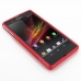 Sony Xperia Z Soft Case (Red S Shape pattern) top quality leather case by PDair