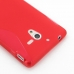 Sony Xperia ZL Soft Case (Red S Shape pattern) protective carrying case by PDair