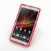 Sony Xperia ZL Soft Case (Red S Shape pattern) top quality leather case by PDair