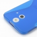 HTC One E8 Soft Case (Blue S Shape pattern) protective carrying case by PDair