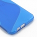 HTC One E8 Soft Case (Blue S Shape pattern) handmade leather case by PDair