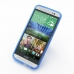 HTC One E8 Soft Case (Blue S Shape pattern) genuine leather case by PDair