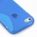 iPhone 5c Soft Case (Blue S Shape pattern) protective carrying case by PDair