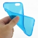 iPhone 6 6s Transparent Soft Gel Case (Blue) top quality leather case by PDair