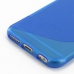 iPhone 6 6s Soft Case (Blue S Shape pattern) handmade leather case by PDair