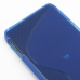 Motorola Droid Razr HD Soft Case (Blue S Shape pattern) handmade leather case by PDair