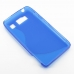 Motorola Droid Razr HD Soft Case (Blue S Shape pattern) top quality leather case by PDair