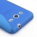 Samsung Galaxy Core 2 Soft Case (Blue S Shape pattern) protective carrying case by PDair