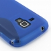 Samsung Galaxy S Duos Soft Case (Blue S Shape pattern) protective carrying case by PDair