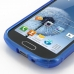 Samsung Galaxy S Duos Soft Case (Blue S Shape pattern) handmade leather case by PDair
