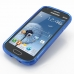 Samsung Galaxy S Duos Soft Case (Blue S Shape pattern) genuine leather case by PDair