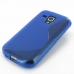Samsung Galaxy S Duos Soft Case (Blue S Shape pattern) top quality leather case by PDair