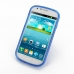 Samsung Galaxy Express Soft Case (Blue S Shape pattern) top quality leather case by PDair
