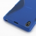 Sony Xperia Z1 Soft Case (Blue S Shape pattern) protective carrying case by PDair