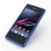 Sony Xperia Z1 Soft Case (Blue S Shape pattern) top quality leather case by PDair